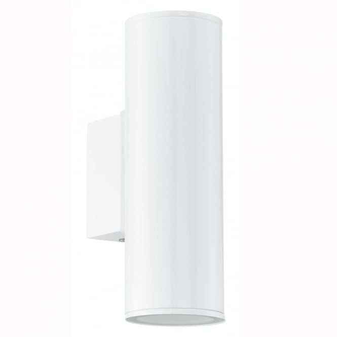 Eglo Riga IP44 Exterior Up and Down Wall Light in White
