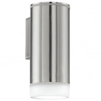 Riga LED Exterior Stainless Steel Single Wall Light