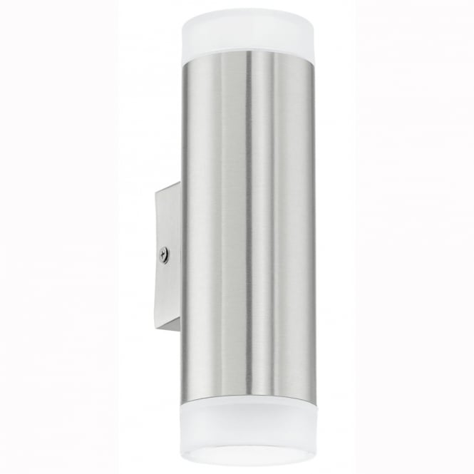 Eglo Riga LED Exterior Up and Down Stainless Steel Wall Light