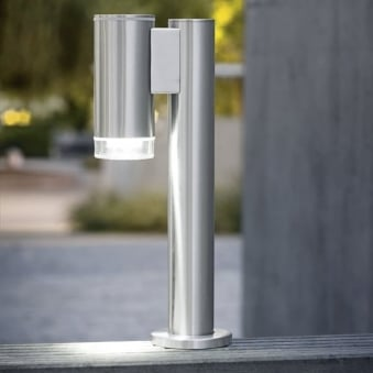 Riga LED Small Exterior Down Floor Bollard Light