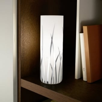 Rivato Glass and Chrome Table Lamp
