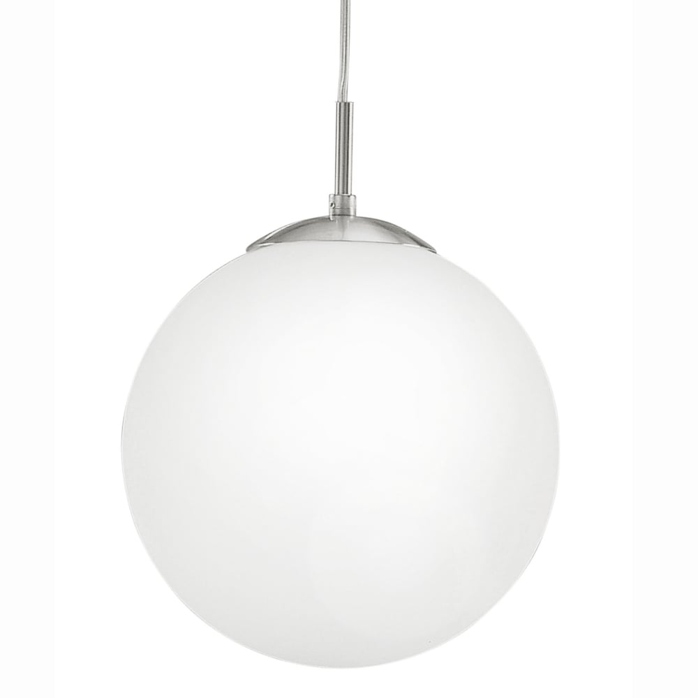 eglo 85262 rondo medium opal white glass globe pendant light