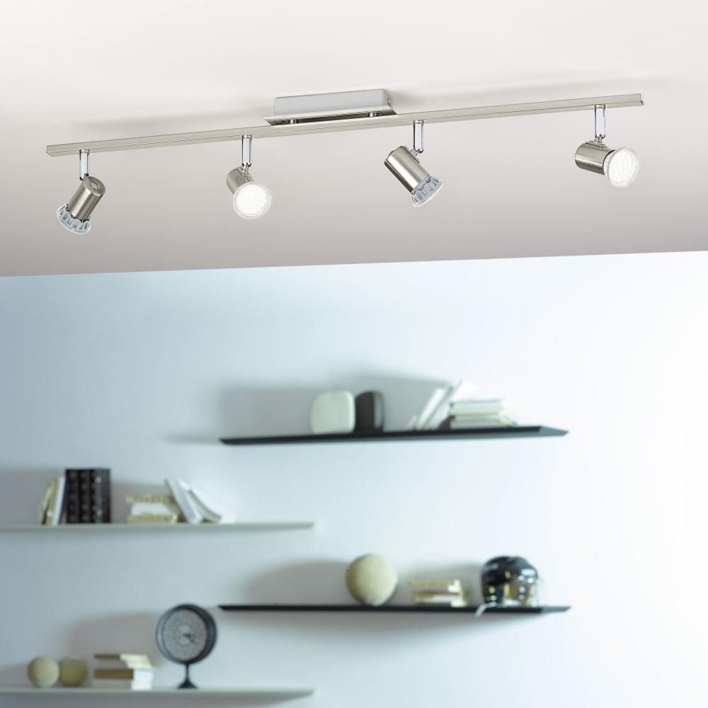 Eglo 90917 Rottelo LED Four Bar Spotlight in Nickel and Chrome