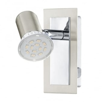 Rottelo LED Single Spotlight in Nickel and Chrome