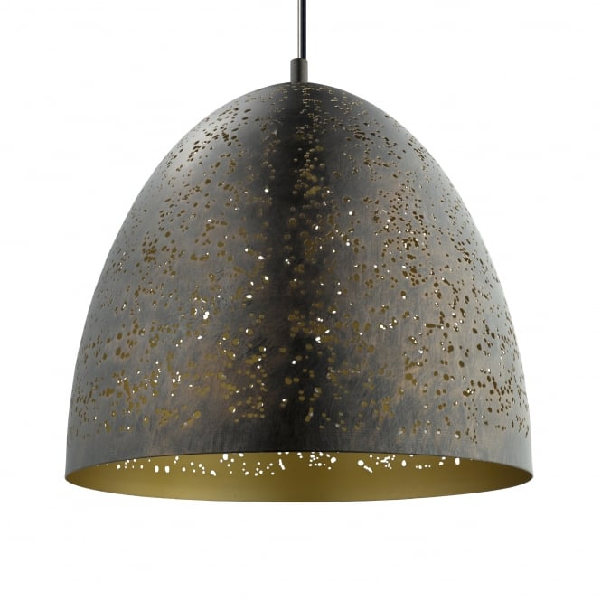 Eglo Safi Gold and Brown Large Pendant Light