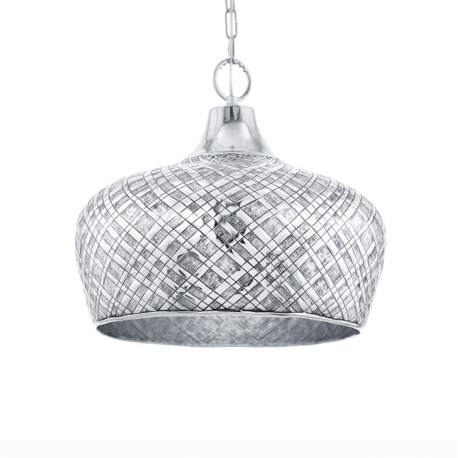 Eglo Saltash 445 Ceiling Pendant Light in Chrome