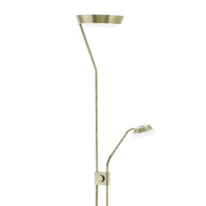 Eglo Sarrione Mother and Child LED Floor Lamp in Bronze