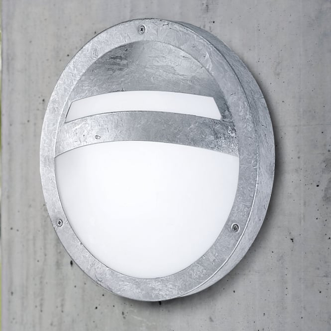 Eglo Sevilla Outdoor IP44 Galvanized Steel Round Wall Light