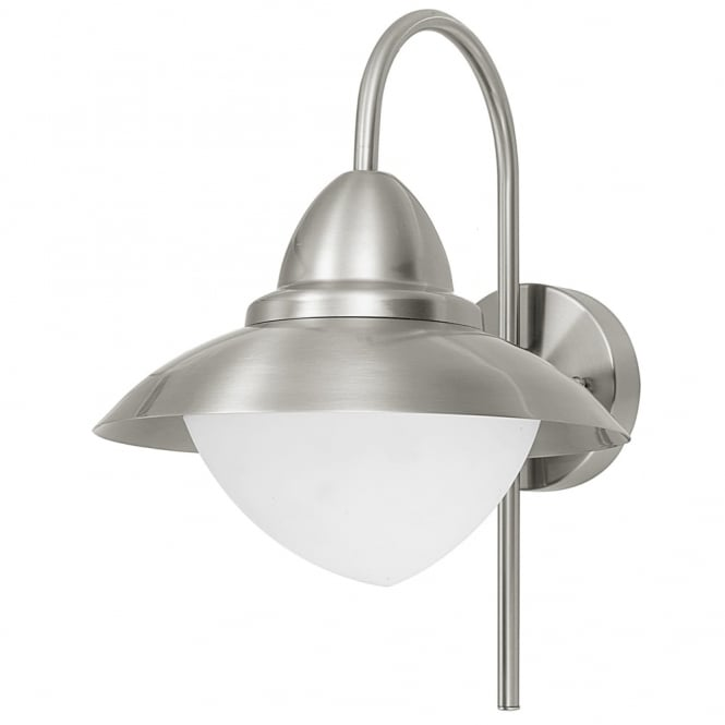 Eglo Sidney Outdoor IP44 Stainless Steel Wall Light