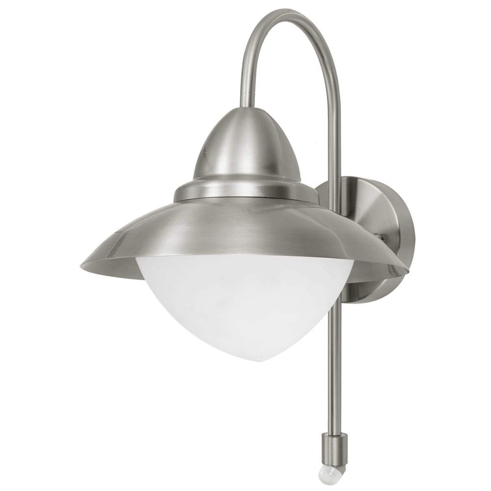 Eglo 87105 sidney pir outdoor ip44 stainless steel wall light sidney pir outdoor ip44 stainless steel wall light aloadofball Image collections