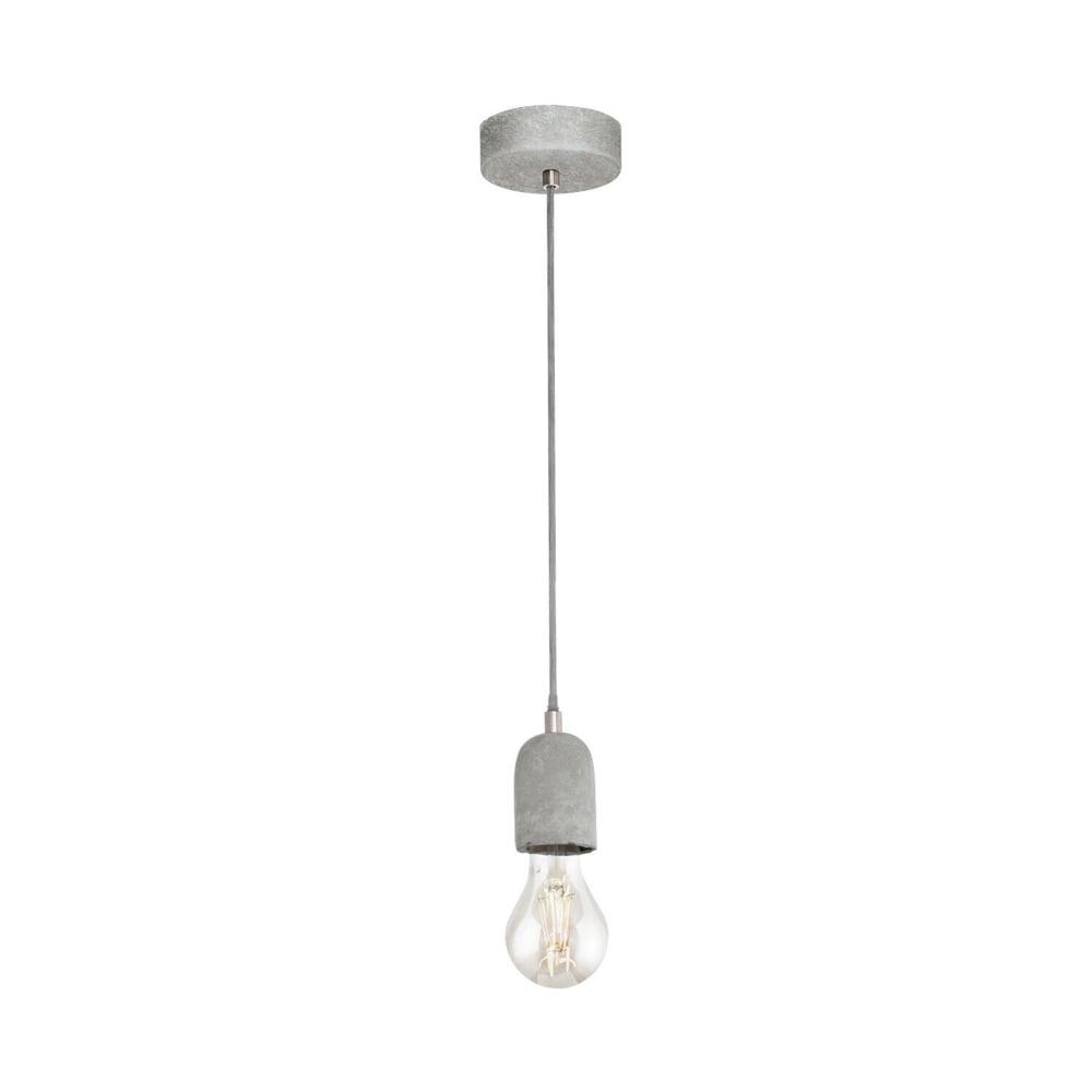 eglo 95522 silvares concrete single pendant light