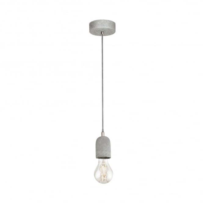 Eglo Silvares Concrete Single Pendant Light