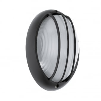 Siones 1 LED IP44 Outdoor Wall or Ceiling Light in Black
