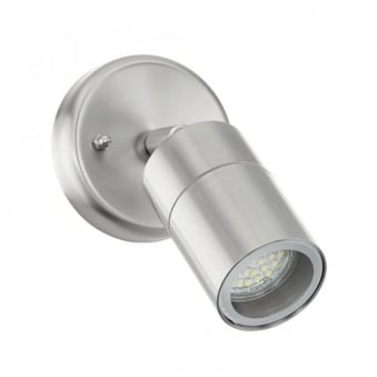 Stockholm LED IP44 Exterior Stainless Steel Wall Light