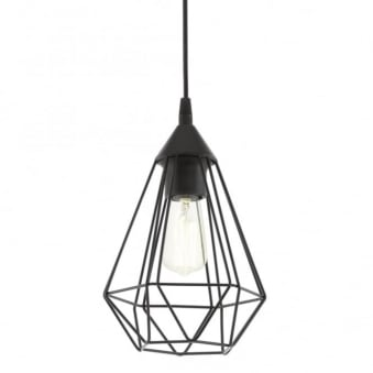 Tarbes Black Cage Breakfast Bar Pendant Light