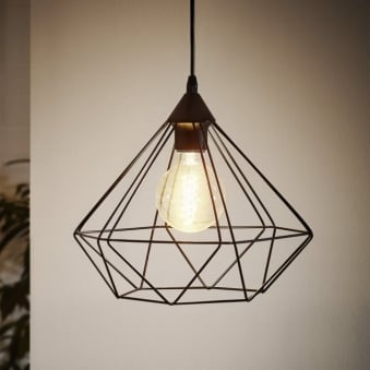 Tarbes Black Cage Pendant Light