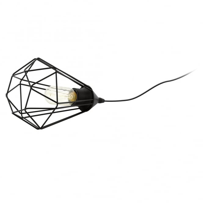 Eglo Tarbes Black Cage Table Lamp