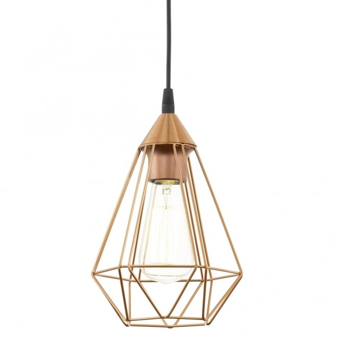 Eglo Tarbes Copper Coloured Breakfast Bar Cage Light