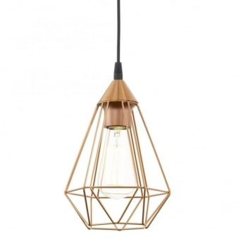 Tarbes Copper Coloured Breakfast Bar Cage Light