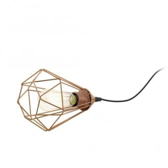 Tarbes Copper Coloured Table Lamp