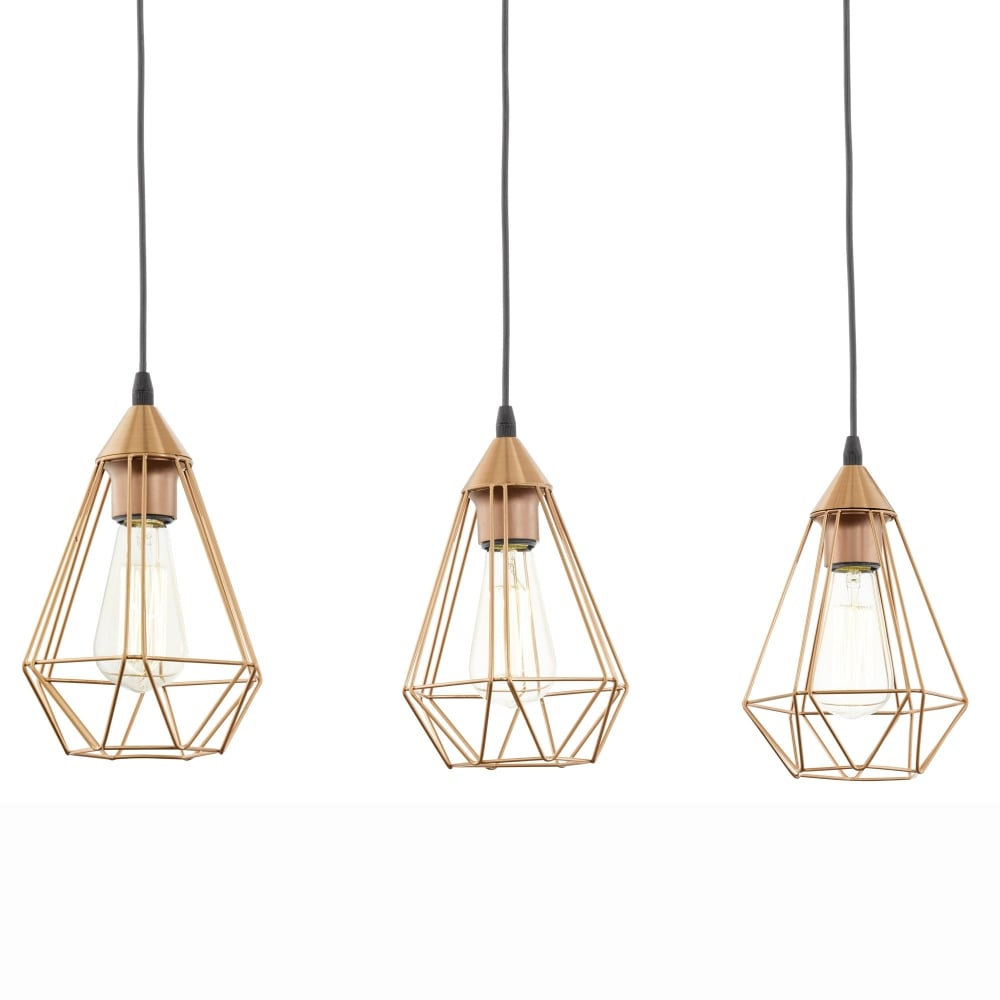 Eglo 94195 tarbes copper coloured triple drop bar pendant light tarbes copper coloured triple drop bar pendant light mozeypictures Image collections