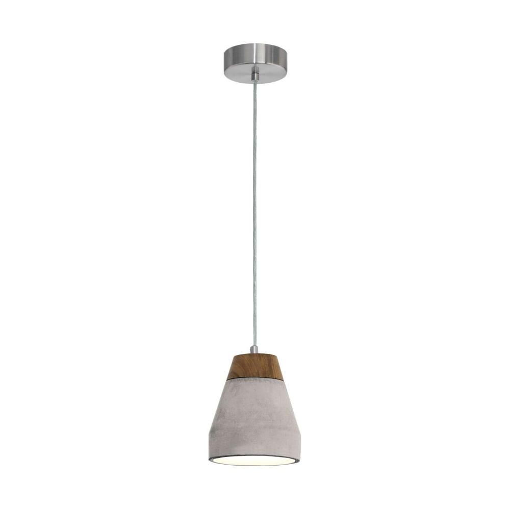 eglo 95525 tarega concrete and wood single pendant light