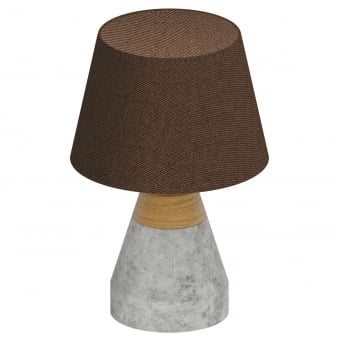 Tarega Concrete and Wood Table Lamp