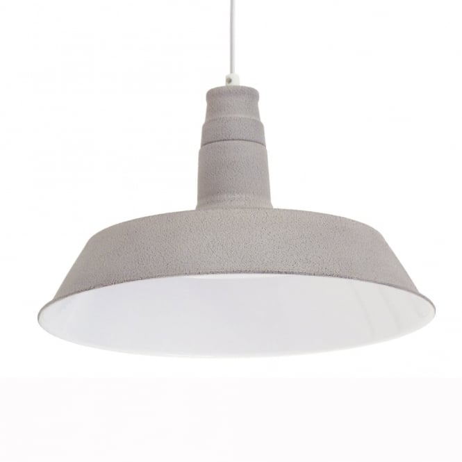 Eglo Taupe Industrial Steel Pendant Light