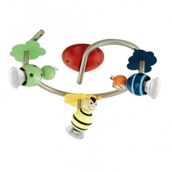 Taya 1 LED Animal Three Curved Bar Children's Spotlight