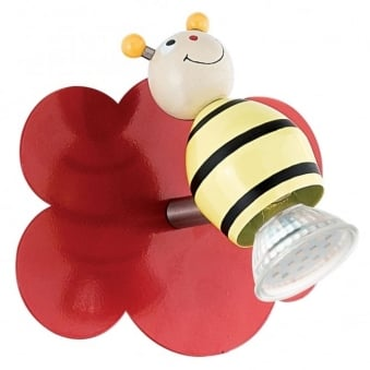 Taya 1 LED Bumble Bee Children's Single Spotlight