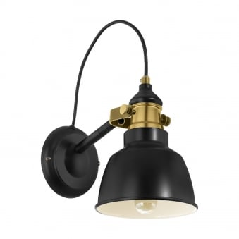 Thornford Black and Bronze Wall Light