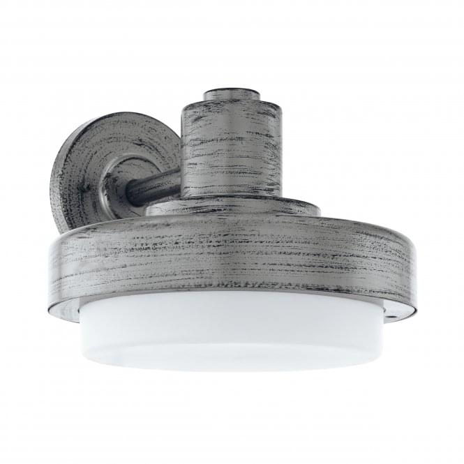 Eglo Tollera IP44 Outdoor Wall Light in Antique Silver Effect