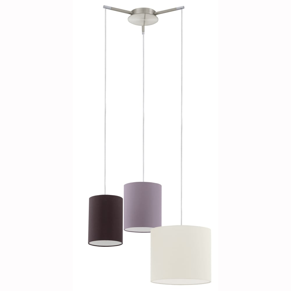 Tombolo Triple Shade Pendant Light  sc 1 st  Dusk Lighting & Eglo 92755 Tombolo Triple Multi Shade Pendant Light