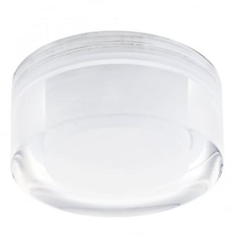 Tortoli Round Clear and White Plastic Recessed Downlight
