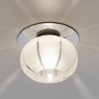 Tortoli Round Satinated Glass Recessed Downlight