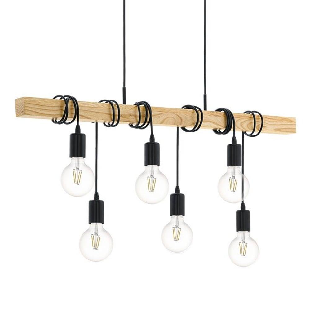 eglo 95499 townshend wooden bar pendant. Black Bedroom Furniture Sets. Home Design Ideas