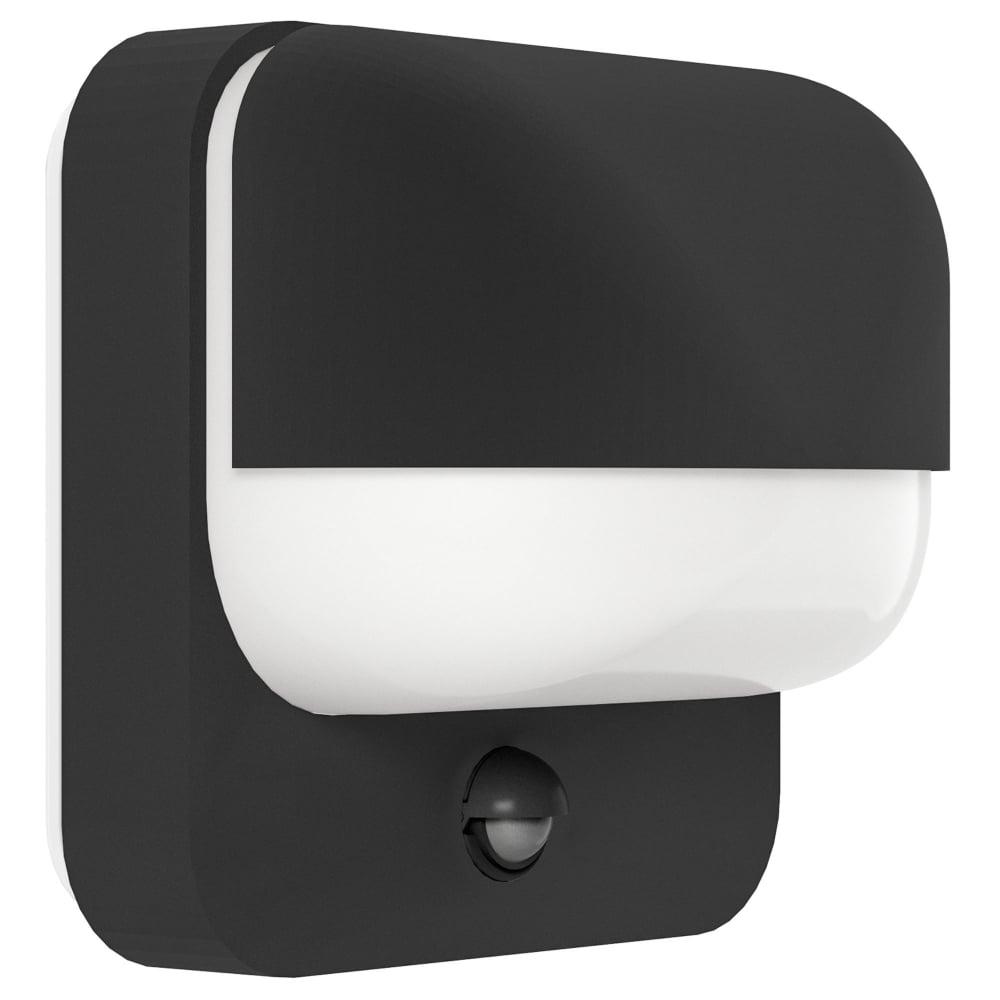 Oslo Wall Light With Pir Motion Sensor : Eglo 94853 Trabada Outdoor PIR Sensor Wall Light in Black