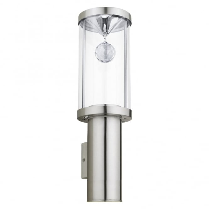 Eglo Trono 2 LED Exterior Wall Light in Stainless Steel