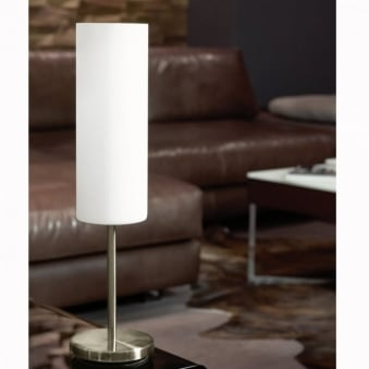 Troy 3 White Satinated Glass Table Light