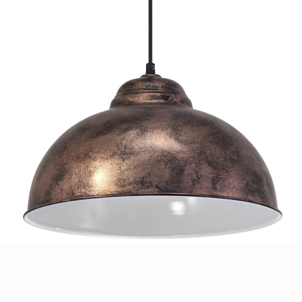 eglo 49248 truro 2 vintage copper and white 370 pendant light. Black Bedroom Furniture Sets. Home Design Ideas