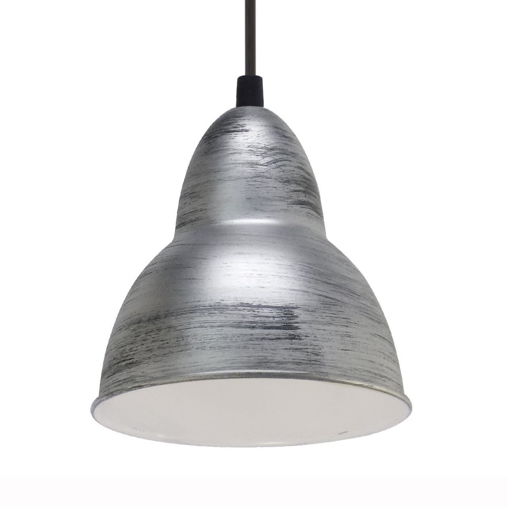 Truro antique silver and white pendant light