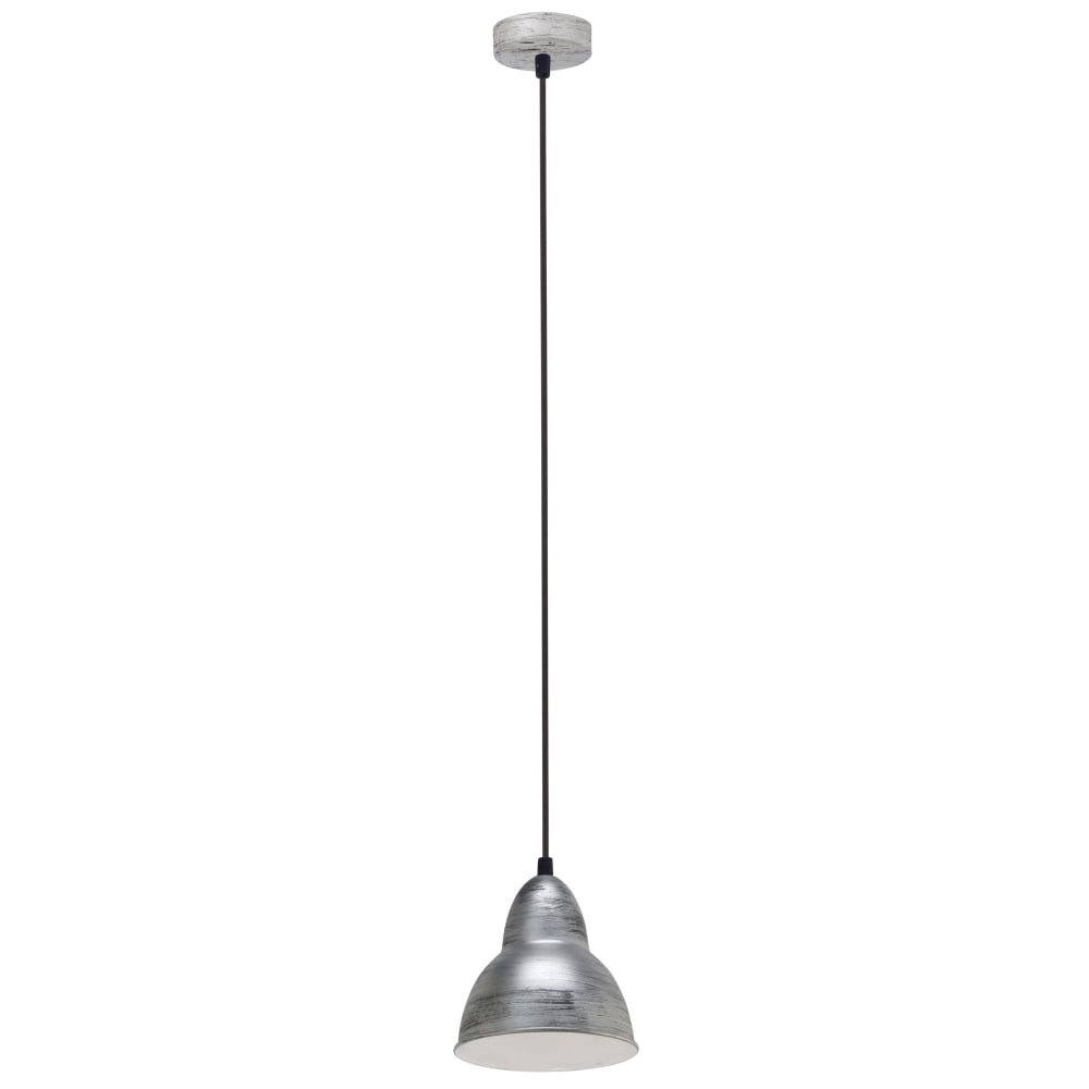 Truro Antique Silver And White Pendant Light