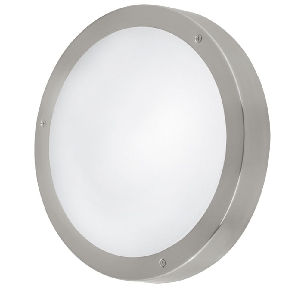 Eglo 94121 vento 1 led outdoor wall ceiling light in stainless steel vento 1 led outdoor wall or ceiling light in stainless steel aloadofball Images