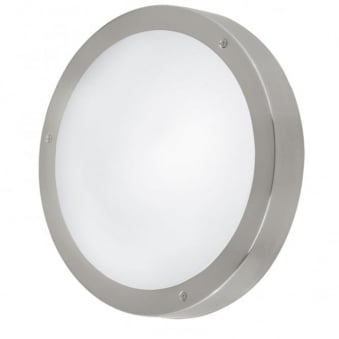 Vento 1 LED Outdoor Wall or Ceiling Light in Stainless Steel