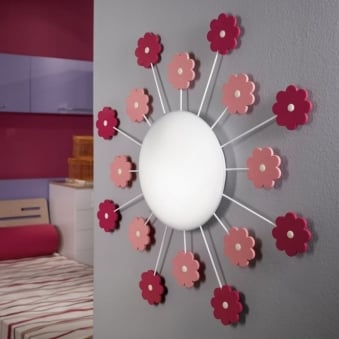 Viki 1 Flower Wall or Ceiling Light