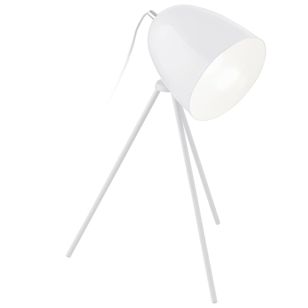 Vintage Don Diego Tripod Table Light In White