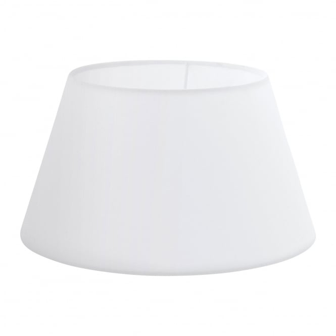 Eglo Vintage Lamp Shade Finished in White Fabric