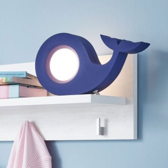 Walina Children's Whale Table Lamp in Blue