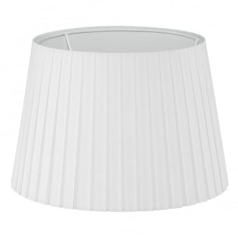 White Pleated Drum 245 Shade