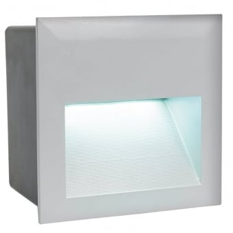 Zimba Exterior LED IP65 Square Recessed Wall Light